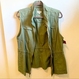 Merona Green Utility Vest